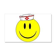 Registered Nurse Happy Face Car Magnet 20 x 12