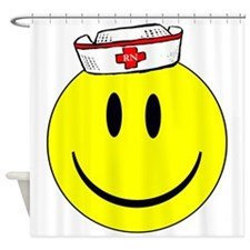 Registered Nurse Happy Face Shower Curtain
