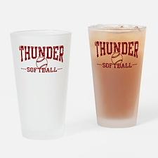 Thunder Softball Drinking Glass