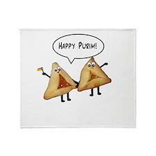 Happy Purim Hamantaschen Throw Blanket