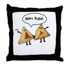 Happy Purim Hamantaschen Throw Pillow