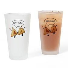 Happy Purim Hamantaschen Drinking Glass