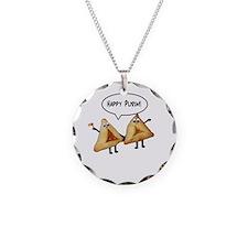 Happy Purim Hamantaschen Necklace