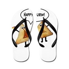 Happy Purim Hamantaschen Flip Flops