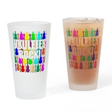 Awesome Ukuleles Rock Drinking Glass