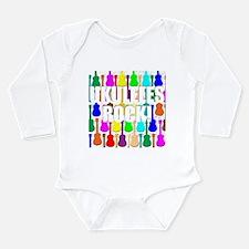 Awesome Ukuleles Rock Long Sleeve Infant Bodysuit