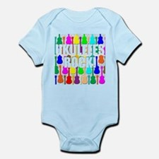 Awesome Ukuleles Rock Infant Bodysuit