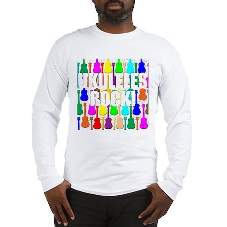 Awesome Ukuleles Rock Long Sleeve T-Shirt