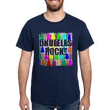 Awesome Ukuleles Rock T-Shirt