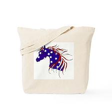 Cool White horse Tote Bag