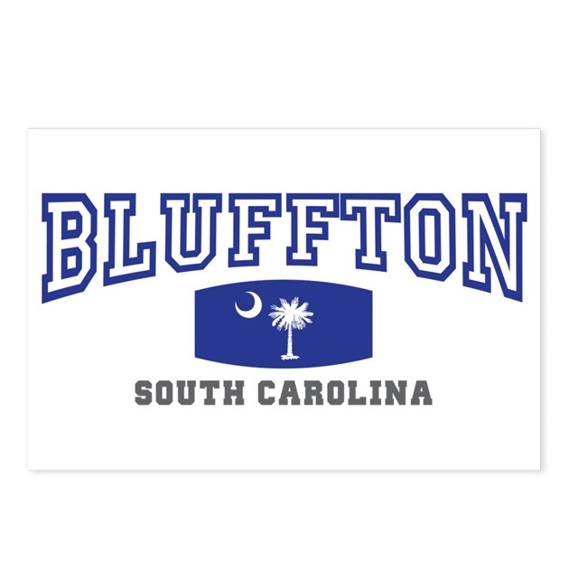 Bluffton south carolina palmetto state flag postc by for Jewelry stores bluffton sc