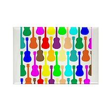 Rainbow Ukulele Rectangle Magnet (100 pack)