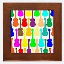 Rainbow Ukulele Framed Tile