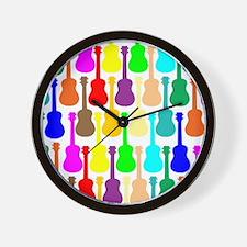Rainbow Ukulele Wall Clock