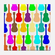 Rainbow Ukulele Tile Coaster