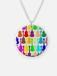 Rainbow Ukulele Necklace