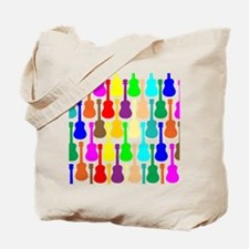 Rainbow Ukulele Tote Bag