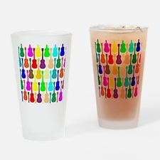 Rainbow Ukulele Drinking Glass