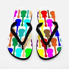 Rainbow Ukulele Flip Flops