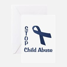 Stop Child Abuse Greeting Card