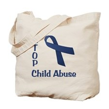 Stop Child Abuse Tote Bag