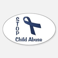 Stop Child Abuse Sticker (Oval)