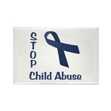 Stop Child Abuse Rectangle Magnet
