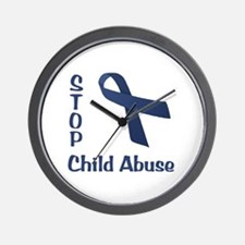 Stop Child Abuse Wall Clock