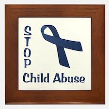 Stop Child Abuse Framed Tile
