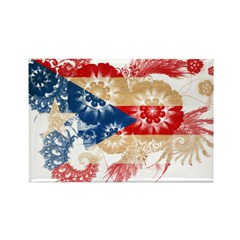 Puerto Rico Flag Rectangle Magnet (100 pack)