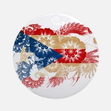 Puerto Rico Flag Ornament (Round)