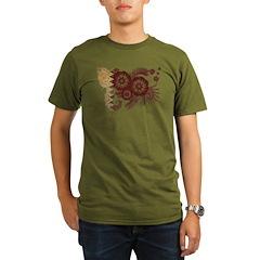 Qatar Flag Organic Men's T-Shirt (dark)