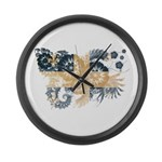 Quebec Flag Large Wall Clock