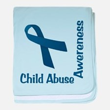 Child Abuse Awareness baby blanket