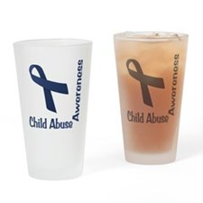 Child Abuse Awareness Drinking Glass