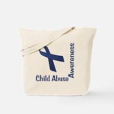 Child Abuse Awareness Tote Bag