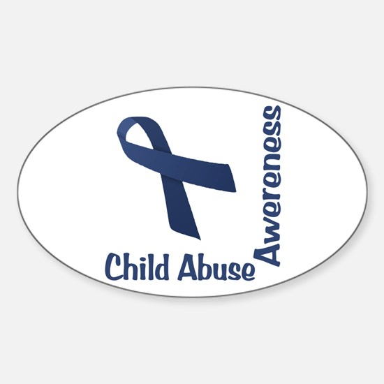 Child Abuse Awareness Sticker (Oval)