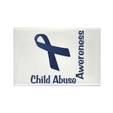 Child Abuse Awareness Rectangle Magnet
