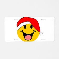 Santa Smiley Aluminum License Plate