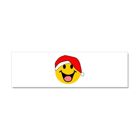 Santa Smiley Car Magnet 10 x 3