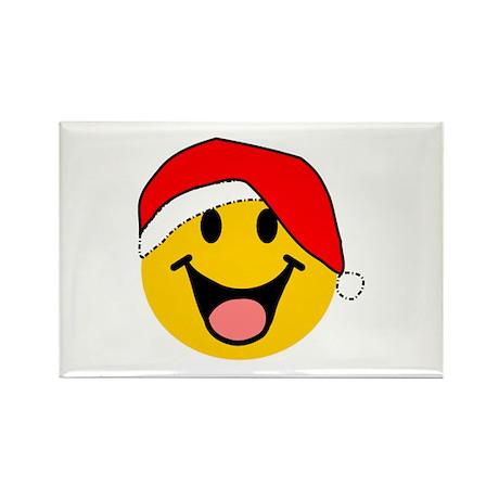 Santa Smiley Rectangle Magnet (100 pack)