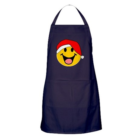 Santa Smiley Apron (dark)