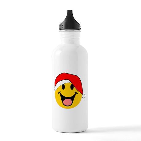 Santa Smiley Stainless Water Bottle 1.0L