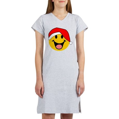 Santa Smiley Women's Nightshirt