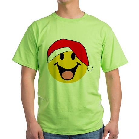 Santa Smiley Green T-Shirt