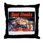 Best Steaks In The State Throw Pillow
