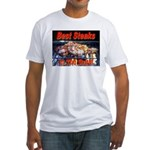 Best Steaks In The State Fitted T-Shirt