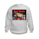 Best Steaks In The State Kids Sweatshirt