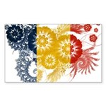 Romania Flag Sticker (Rectangle 10 pk)