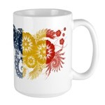 Romania Flag Large Mug